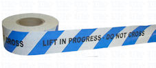 LIFT IN PROGRESS DO NOT CROSS barrier tape (stock clearance)