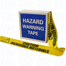 CAUTION HAZARDOUS MATERIALS barrier tape