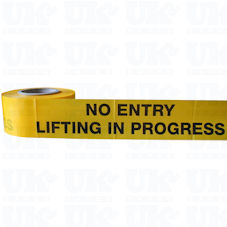 NO ENTRY LIFTING IN PROGRESS barrier tape