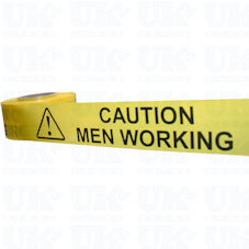 CAUTION MEN WORKING barrier tape
