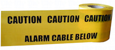 ALARM CABLE warning tape