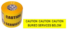 BURIED SERVICES warning tape