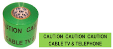 CABLE TV & TELEPHONE warning tape