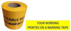 CUSTOM PRINTED warning tape