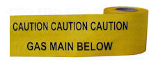 GAS MAIN warning tape