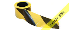 SUPER barrier tape : black & yellow (100M)