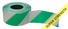 SUPER barrier tape - green & white (500M)