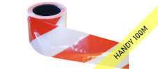 SUPER barrier tape : red & white (100M)