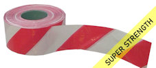 SUPER barrier tape - red & white (500M)