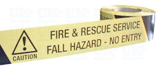 FIRE & RESCUE SERVICE FALL HAZARD - NO ENTRY barrier tape