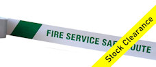 FIRE SERVICE SAFE ROUTE barrier tape
