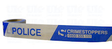 POLICE + CRIMESTOPPERS barrier tape