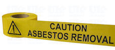 CAUTION ASBESTOS REMOVAL barrier tape