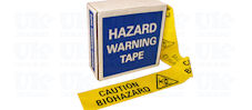 CAUTION BIOHAZARD barrier tape