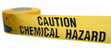 CAUTION CHEMICAL HAZARD barrier tape