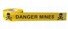 DANGER MINES barrier tape