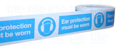 EAR PROTECTION MUST BE WORN barrier tape