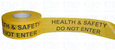 HEALTH & SAFETY barrier tape