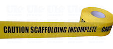 CAUTION SCAFFOLDING INCOMPLETE barrier tape