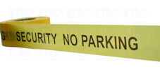 SECURITY NO PARKING barrier tape