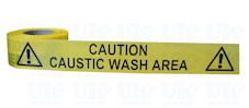 CAUTION CAUSTIC WASH AREA barrier tape