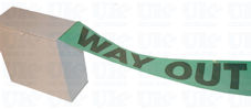 WAY OUT barrier tape