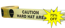CAUTION HARD HAT AREA