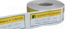 White custom printed tape (3 colours)