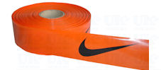 Specially printed orange tape