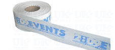 White custom printed tape (1 colour)