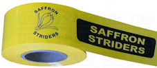 Custom printed yellow tape - 1 colour design