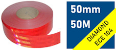 ECE104 Reflective Tape : red