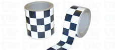 CHEQUERED Reflective Tape : black & white