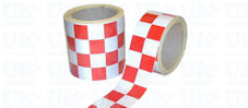 CHEQUERED Reflective Tape : red & white