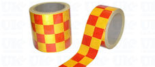 CHEQUERED Reflective Tape : red & yellow