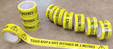 Safe distance floor marking tape (box of 36)