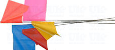 Stake marker flags  (plain colours)